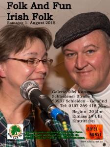 Plakat Folk And Fun - Eifel Kunst 2015
